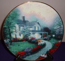 """Thomas Kinkade Home Sweet Home 8.25"""" Collector's Plate w/Coa"""