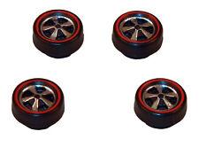 4 Brightvision Redline Wheels - 4 Small Deep Dish Bright Chrome Style