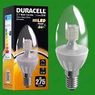 2x 3.7w Regulable Duracell LED CLARO VELA Instantáneo luz bombilla SES E14