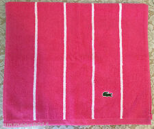 "NEW Lacoste hand towel 100% cotton salmon pink turquoise blue green 15""x28"""