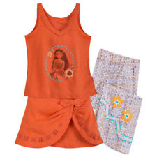 Girls MOANA PJs Shirt Pants Wrap Child Small 5 6 Disney Store Pajamas Sleepwear