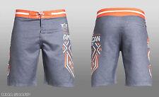 American Fighter by Affliction North Dakota Tech Board Shorts Grey 38 waist