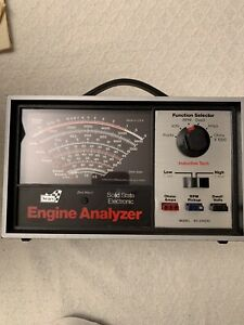 Sears Engine Analyzer 28-21423 with cables, box, manual and original receipt.