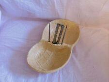 Vintage Unique Peanut Shaped Nutcracker Nut Bowl Cracker Picks Tools USA made