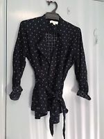 Trenery navy and white jacket type top