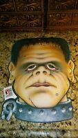"Vintage 1985 Beistle 15"" Frankenstein Style Monster Head Halloween Cutout"