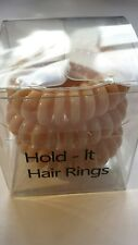 Hold It Hair Rings 4cm Spiral Stretchy Bobbles Hair Bands 3x4cm Nude