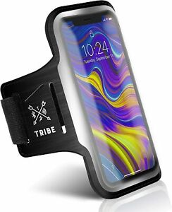 Running Phone Holder Sports Armband. iPhone Cellphone Workout Band Black