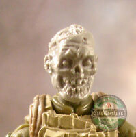 "MH378 Custom Cast Zombie head #4 use w/ 3.75"" GI Joe Star Wars Marvel Acid Rain"