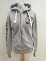 R764 MENS SUPERDRY STATE ATHL GREY FULL ZIP TRACKSUIT JACKET HOODIE UK S EU 46