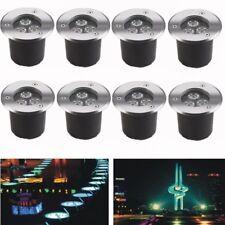 Faretto a LED da pavimento 8x 3W in acciaio inox da luce spot da incasso esterno