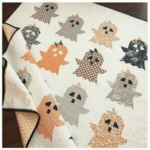 """New Pieced Quilt Pattern  BOO! 55¼"""" x 64½"""""""