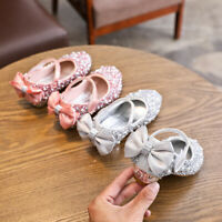 Girls Shoes Infant Outdoor Autumn Fashion Soft-Soled Bowknot Baby Leather Shoes