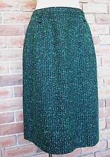 Vintage Katies Pencil SKIRT Black / Green Fleck - Size (14 -16)