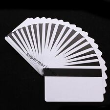 50x blank CR80 ID ISO PVC Credit Card HiCo 1-3 Magnetic Stripe ~PVC Card Printer