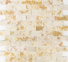 Marmormosaik Verbund Splitface sunny beige 3D Fliese Art: 42-X3D46 | 10 Matten
