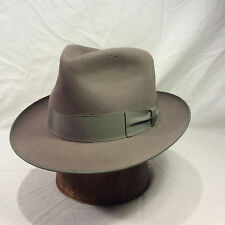 Charcoal Grey Thoroughbred Fedora Men's Vintage Hat with Charcoal Grey Band