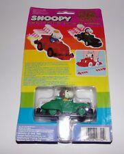 1985 Green Snoopy Bump N Go Pull Back Wind Car Moc Brand New Rare