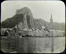 Glass Magic Lantern Slide DINANT NO4 ON THE MEUSE C1890 PHOTO BELGIUM
