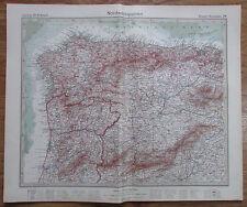 NORDWESTSPANIEN ESPANA NOROESTE 1926 Kupferstich alte Landkarte old map