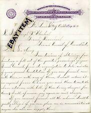 1880 LETTERHEAD New York CW BROWN Royal Select Master Masons MASONIC Grand Maste
