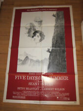 FIVE DAYS ONE SUMMER original 1982 poster Sean Connery mountain climbing
