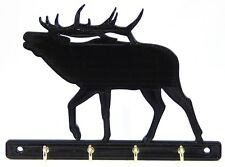Bull Elk Key Rack Holder Hanger Hunter Decor Entryway Organizer Wall Hooks
