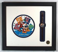 Mickey Mouse Character Watch & Artwork w/ Goofy & Donald Duck Framed Artist