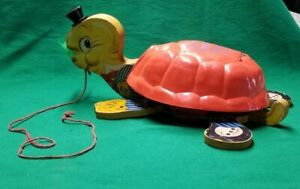 Uncle Timmy Turtle Fisher Price Vintage No 125 Musical Pull Toy