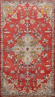 Vintage Floral Mahal Traditional Hand-knotted Area Rug Wool Oriental Carpet 4x7