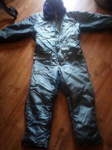 Jc Penney Snow Mobile Blue Snow Suit MediumCoveralls Vintage