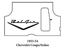 1953 1954 Chevrolet Trunk Rubber Floor Mat Cover with G-082 Belair