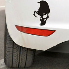 1 Pcs Skull Car Motorcycle Sticker Label Skull Stickers Accessories Black*