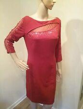 Mesh Encrusted Trim Body Con Dress Size 10 Transvestite Crossdresser Cds 0196