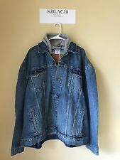 Vetements x Levis Oversized Hooded Denim Jacket DS Sz M Kanye Yeezy Rare