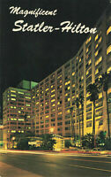 Postcard Statler-Hilton Los Angeles California