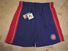 Chicago Cubs Shorts 2XL Embroidered Logo Blue Red Majestic Athletics MLB