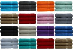 3x Super Jumbo Bath Sheets Combed Towels Extra Large Size 90 x 180 cm Bath Sheet