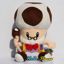 "Super Mario Bro. 10"" Toadsworth Plush Mushroom Grandpa Toy Doll Xmas Gift US new"