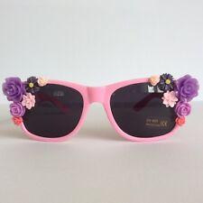 Hola Pétalo-pinksandminks adornado Gafas de sol rosa flores de color púrpura