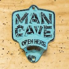 Cast Iron Man Cave Bottle Opener Wall Mount Great for the Bar