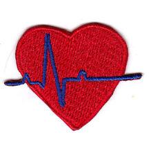 EKG HEART Iron On Patch Medic Doctor /Nurse, Medic