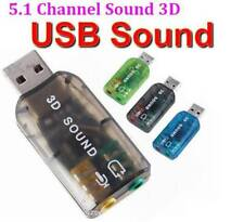5.1Channel USB External Audio Sound Card Mic Record Speaker Headphone Adapter US