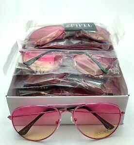 Job Lot Box of 10 Adult Size Pink Gradient Lens Sunglasses Wholesale NWT