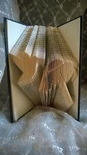 Humming Bird Flower Hand Folded Book Art Unique Home Decor Conversation piece 3d
