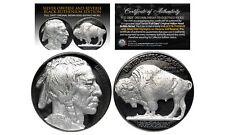 1930's BLACK RUTHENIUM Indian Head Buffalo Nickel FULL DATE with GENUINE SILVER