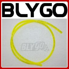 CLEAR YELLOW 2M 2Meter 5mm ID Fuel Petrol Line Hose PIT Quad Dirt Bike ATV Buggy