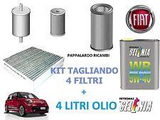 KIT TAGLIANDO FILTRI + 4 LITRI OLIO SELENIA FIAT 500L 1.6 Multijet Diesel