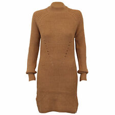 Ladies Cable Knitted Jumper Brave Soul Womens Long Dress Lunar Turtle Neck New