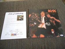 AC/DC If You Want Blood Angus & Malcolm Young +Cliff Signed LP PSA Certified